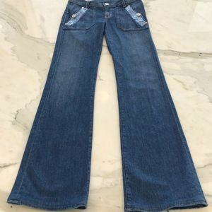 ROCK & REPUBLIC BOOTCUT JEANS CRYSTALS SIZE 26